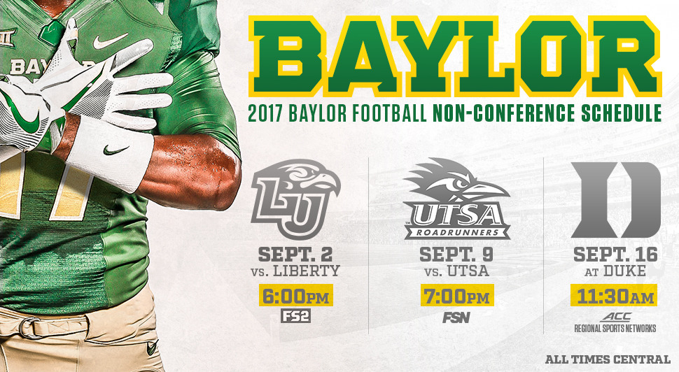 Kickoff Time for Football's Season Opener Announced - Baylor