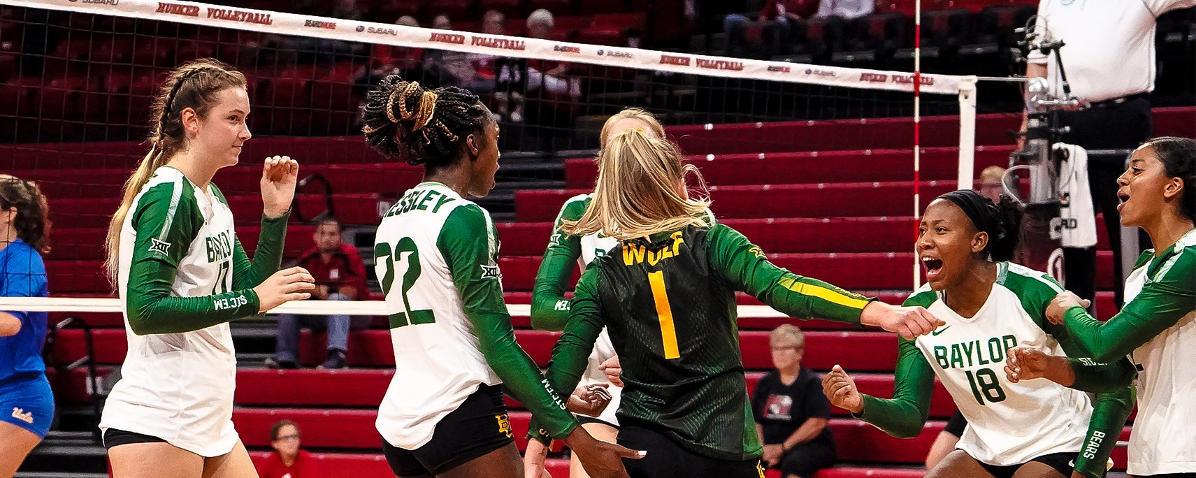 No  20 VB Sweeps Past UCLA in Season Opener - Baylor