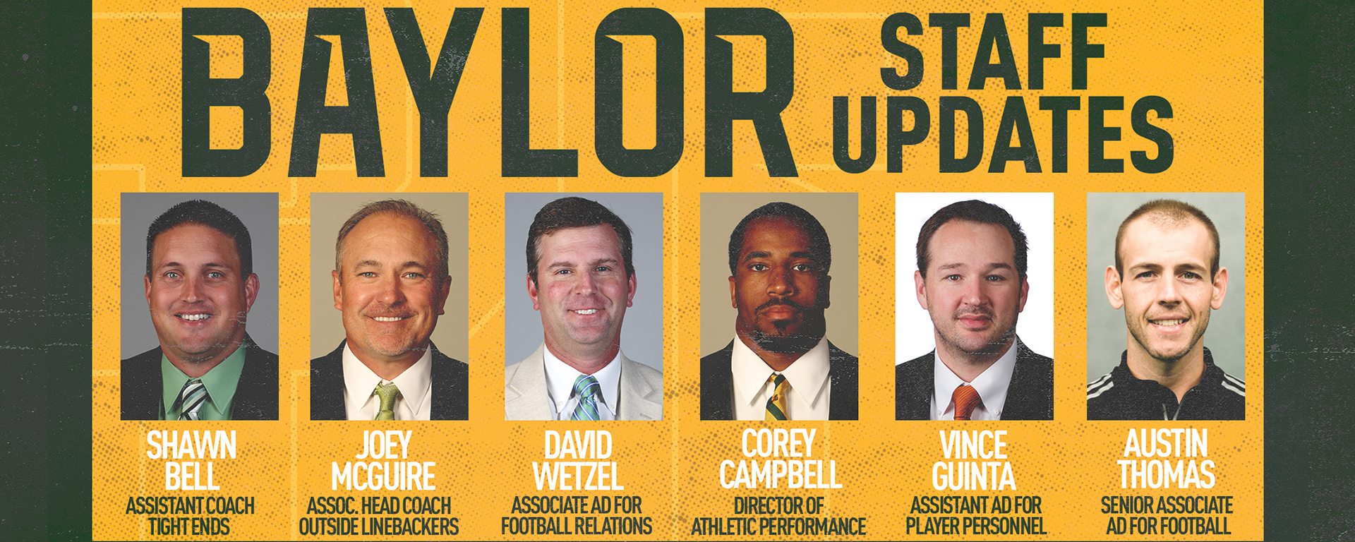 Aranda Announces Staff Retention And Support Additions Baylor University Athletics